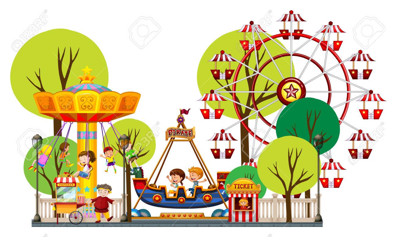 Amusement Park clipart theme park Theme clipart com Cliparting park