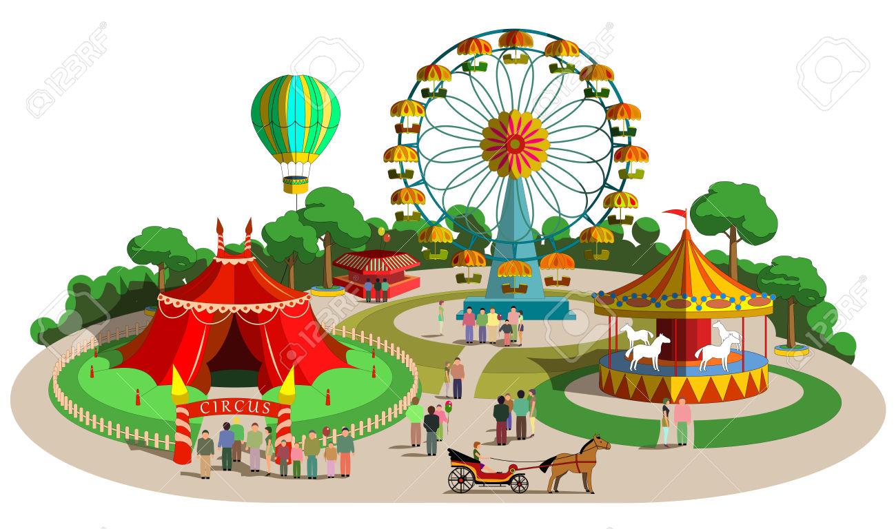 Amusement Park clipart theme park Park clip  art clipart
