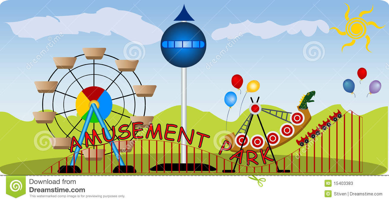Amusement Park clipart theme park Park Clipart Charming Collection amusement