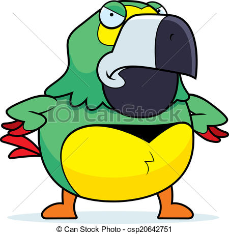 Parrot clipart angry Cartoon angry parrot an Parrot