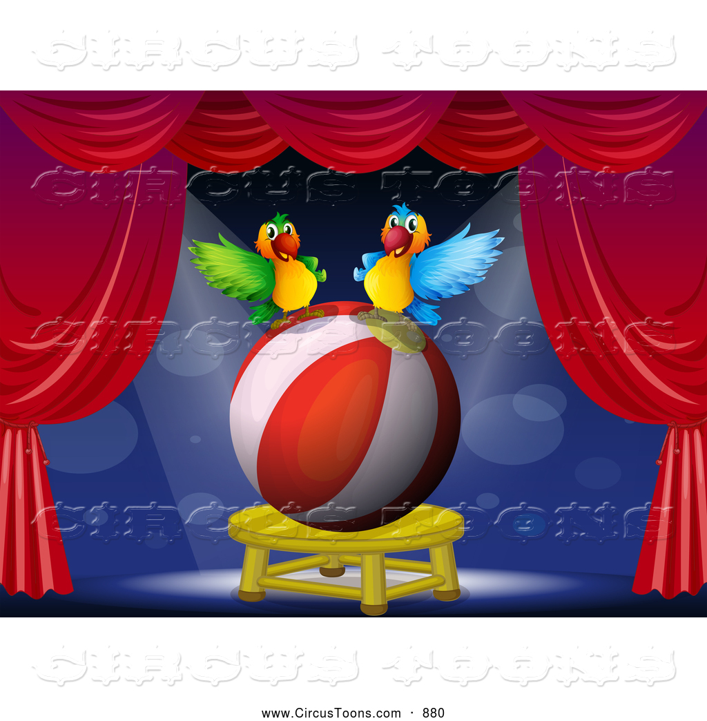 Bird clipart circus Designs Parrot Performing Circus Free
