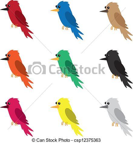 Bird clipart colored Bird  Bird of Vector