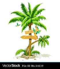 Parrot clipart hawaiian palm tree And clip on images Clip