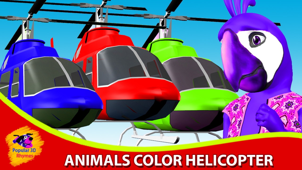 Parrot clipart rainbow color Color Helicopter children's  Sing