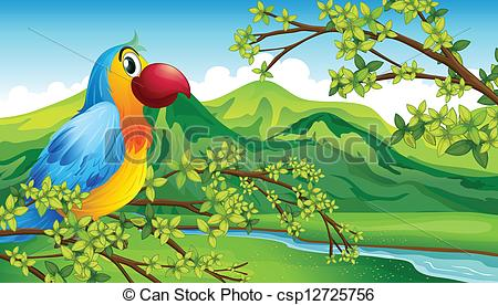 Parrot clipart tree drawing Tree of a Clipart csp12725756