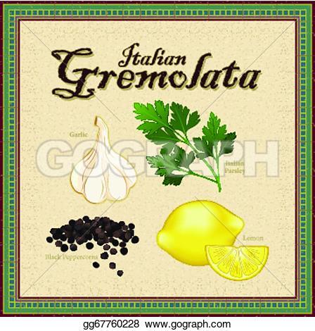 Parsley clipart italian Lemon black Vector Italian cracked