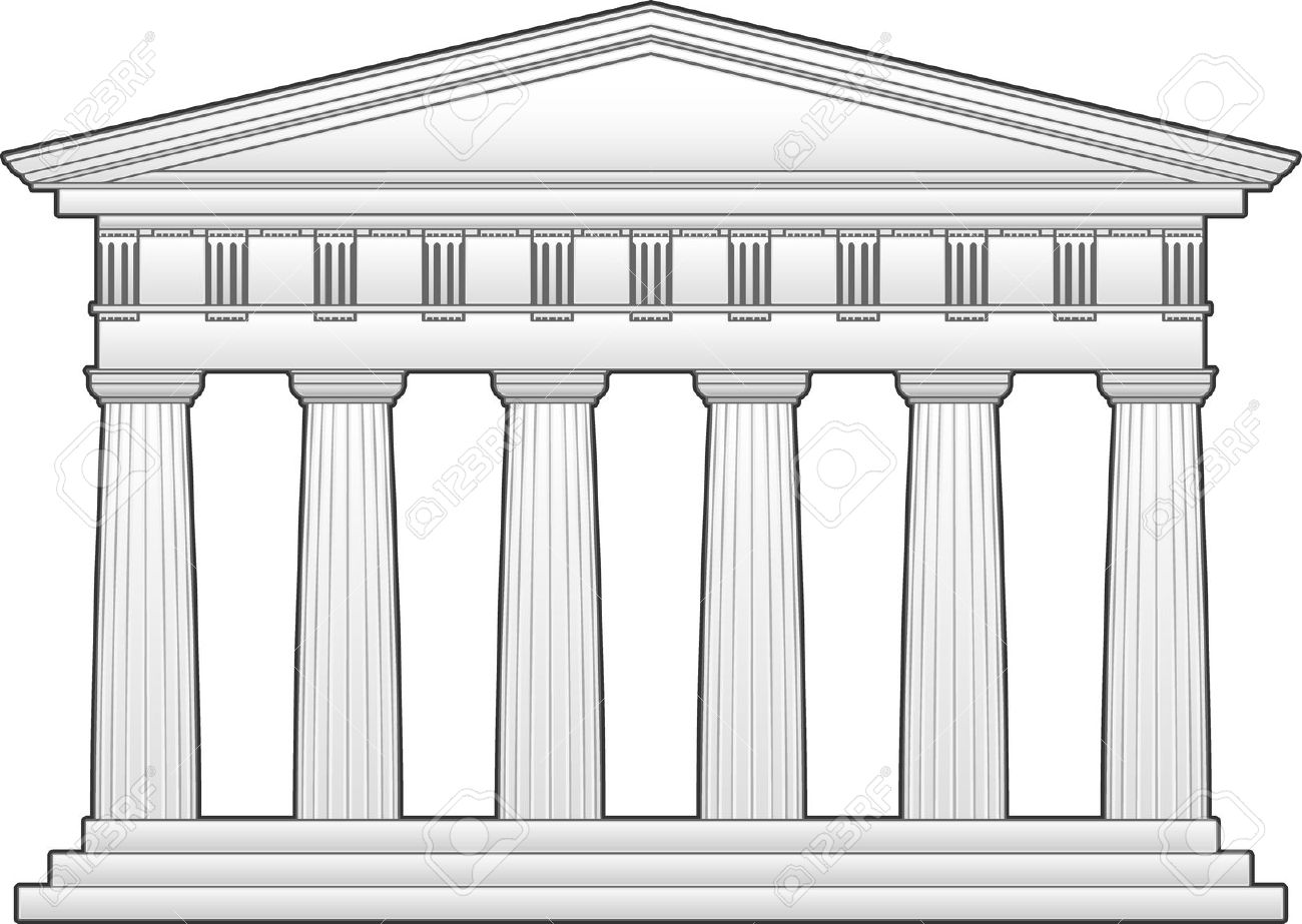 Parthenon clipart black and white Parthenon Parthenon Clipart Greek Greek