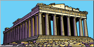 Parthenon clipart #11