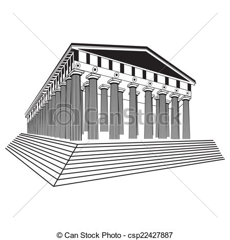 Parthenon clipart black and white 640 Parthenon illustration Art Parthenon