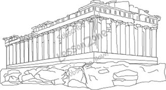 Parthenon clipart black and white B&W NZ Collections Lesson Zone