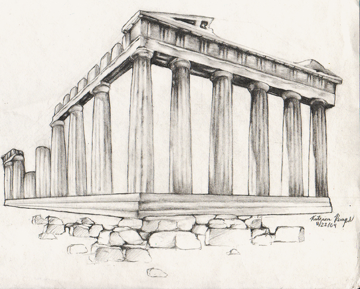 Parthenon clipart color Parthenon source Remains by Drawing