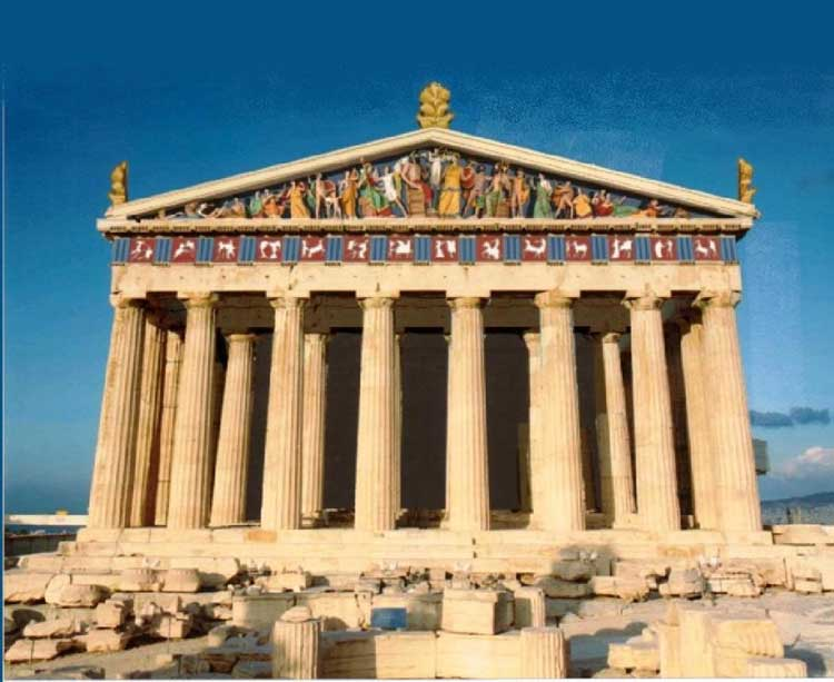 Parthenon clipart color Color Parthenon Greece the Parthenon