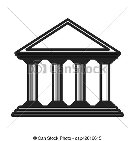 Parthenon clipart color Vector monochrome parthenon of greek
