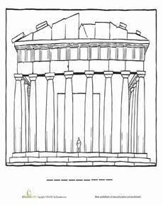 Parthenon clipart color Parthenon  Parthenon Pinterest Art