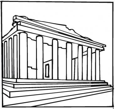 Parthenon clipart color Parthenon & CoLoring  Pinterest
