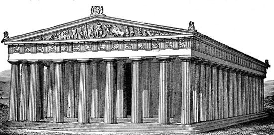 Parthenon clipart color Atina tapınağı Greece parthenon Ara