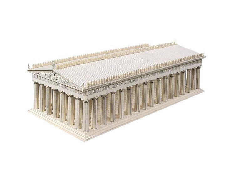 Parthenon clipart color The temple or Acropolis white