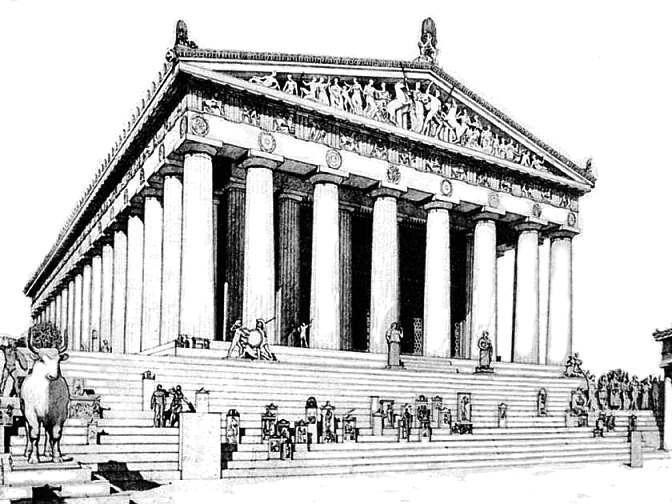 Parthenon clipart color Greek Greece Art ancient –Architecture
