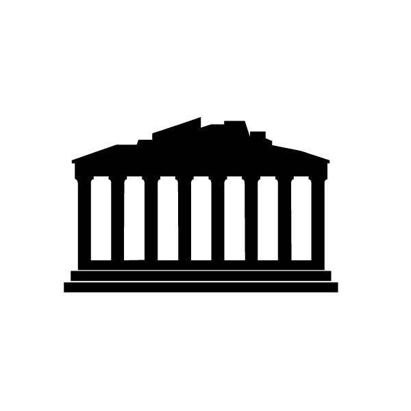 Parthenon clipart greek temple  BTC for muraux logo
