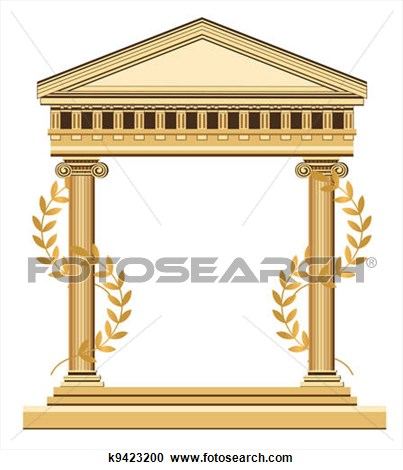 Greek Temple cliparts Palace Clipart