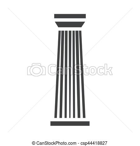Parthenon clipart palace Symbol Vector column ancient for