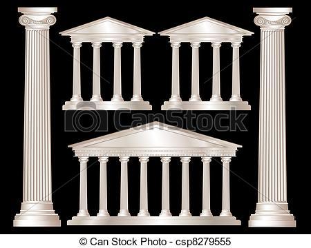 Temple clipart greek pillar Columns  columns Greek a