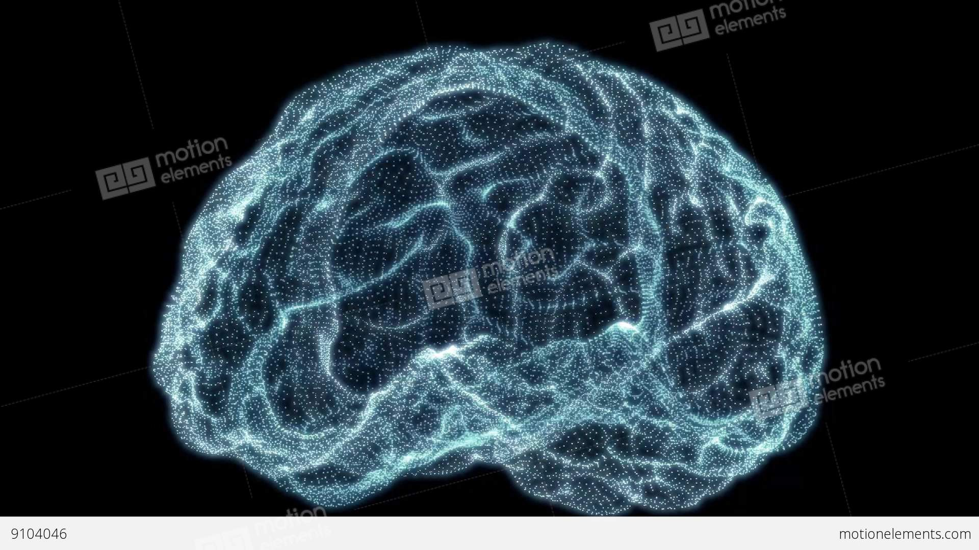 Particle clipart animated science Holographic Brain  Free Video
