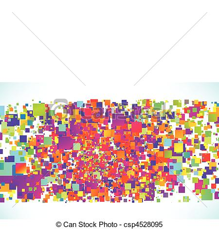 Particle clipart colorful Abstract particle abstract csp4528095 colorful