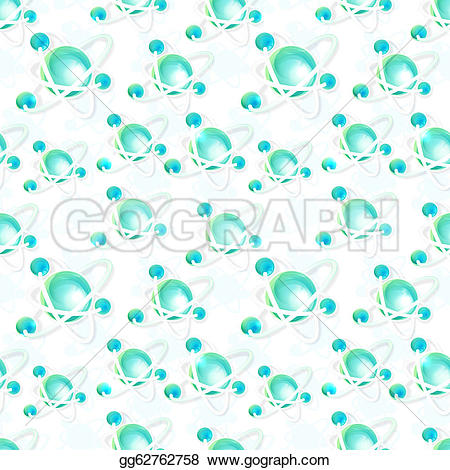 Particle clipart molecule Illustration Illustration molecule Stock Seamless