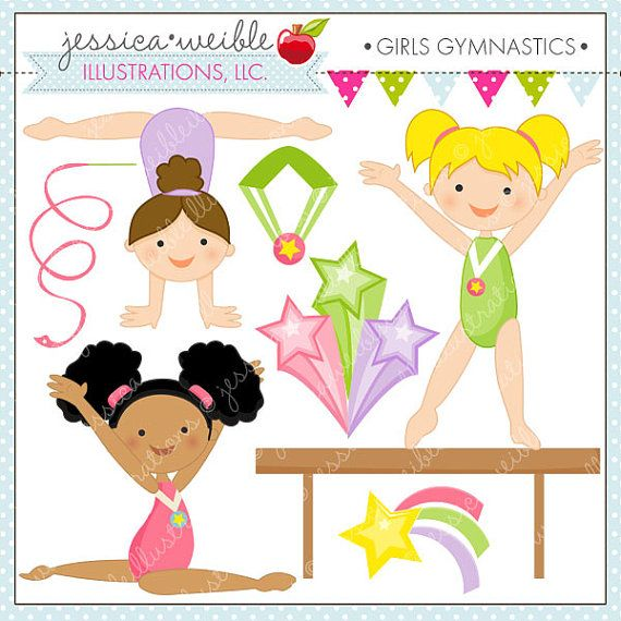 Gymnastics clipart birthday party Graphics for Gymnastic Clipart Gymnastics