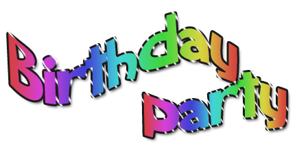Word clipart birthday party Clip clipart you free art
