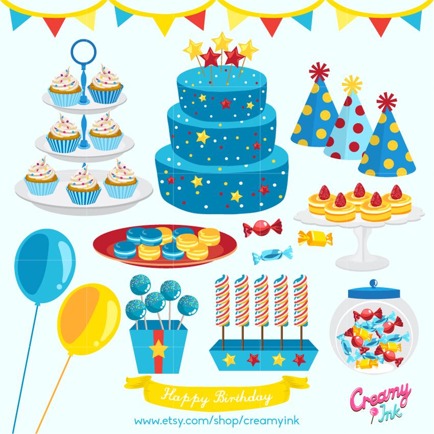 Birthday clipart muffin Boys Boy candy art decorations