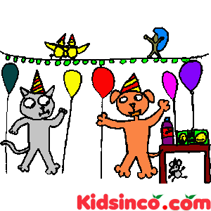 Party clipart cat I S having is Party