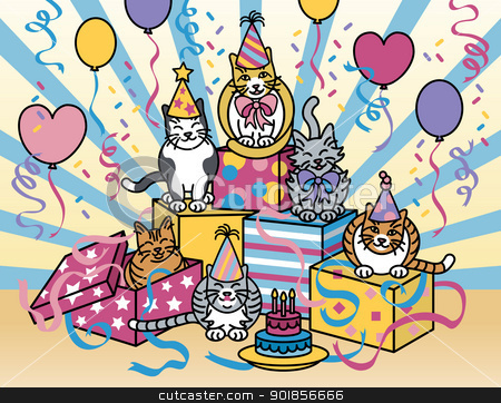 Party clipart cat Party Cats Party Cats vector