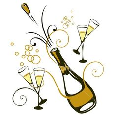 Party clipart champagne glass #13