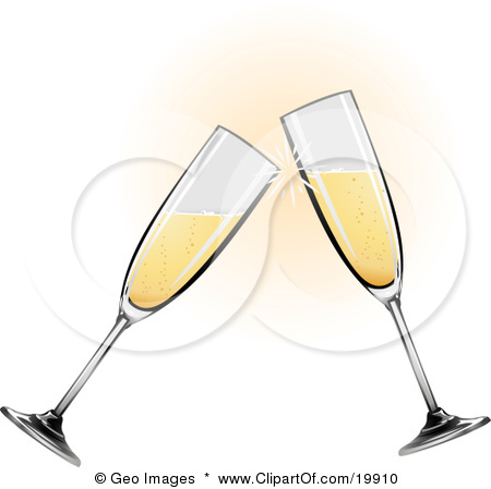 Party clipart champagne glass #15