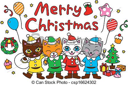 Merry Christmas clipart christmas celebration Merry  party Clipart Merry