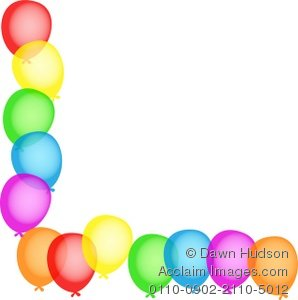 Balloon clipart page border Illustration a of Corner a