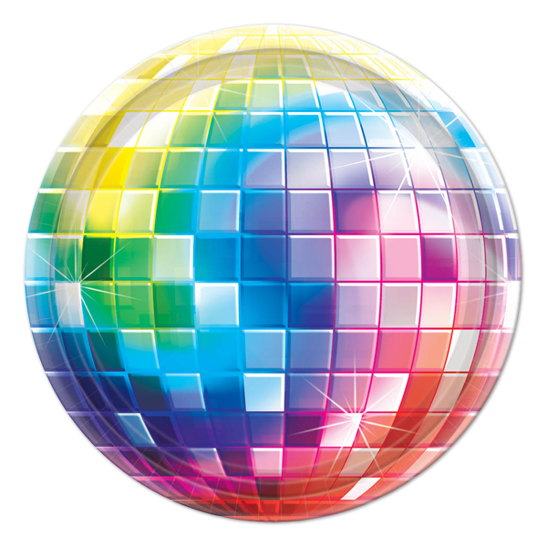 Disco clipart disco party Plates Party club party clipart