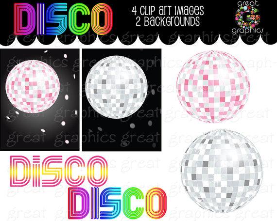 Party clipart disco party Clipart Art Art Disco Digital