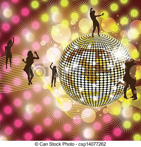 Party clipart disco party Disco Vector Disco Background colorful