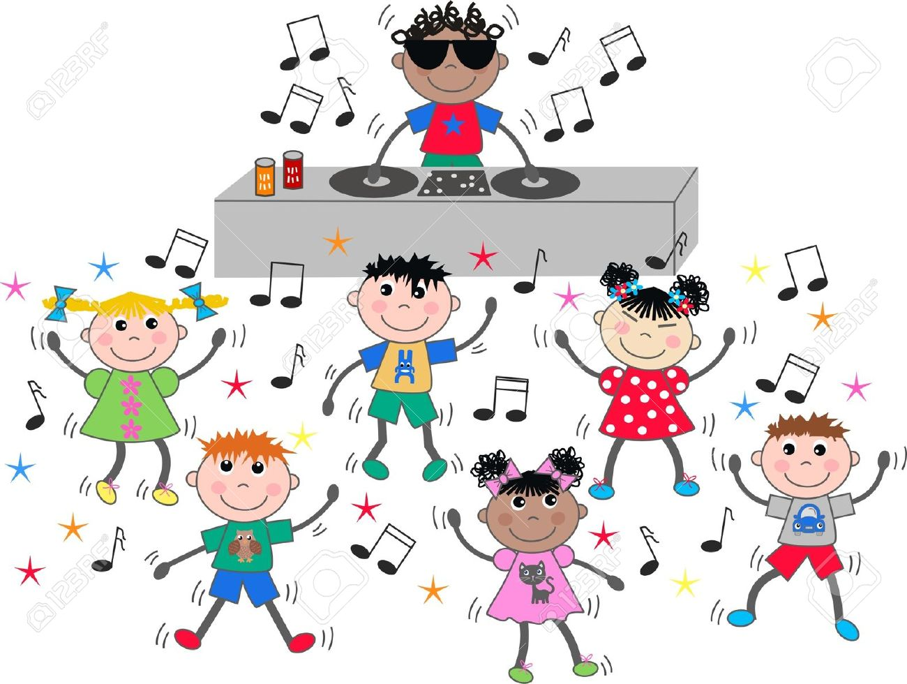 Disco clipart disco party Children Party club party clipart