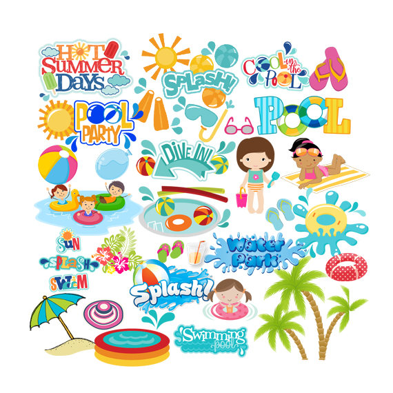 Bubble clipart pool party Pool INSTANT INSTANT Pool Pool