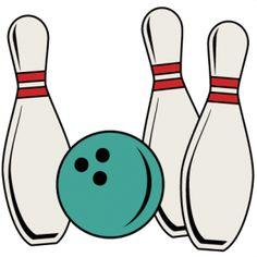 Retro clipart bowling pin #3