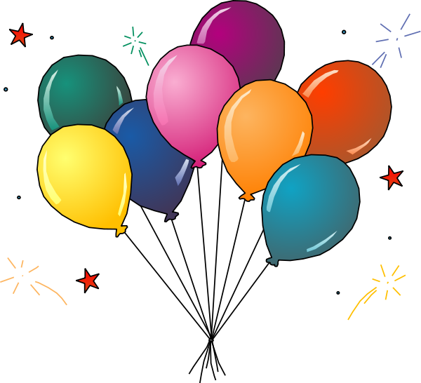 Celebration clipart class party Clipart Free Panda Balloons Party