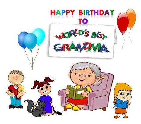 Party clipart grandma For for granny Grandma birthday