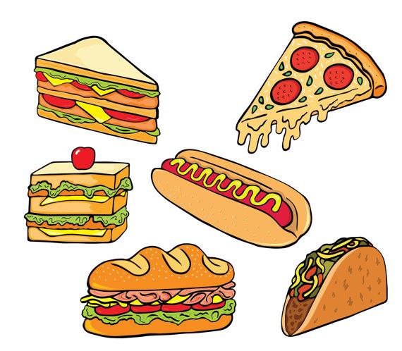 Pizza clipart junk food Fast food clipart food clipart