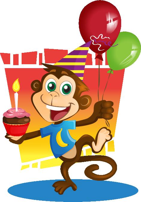 Baboon clipart birthday Clip Art to Clip Monkey