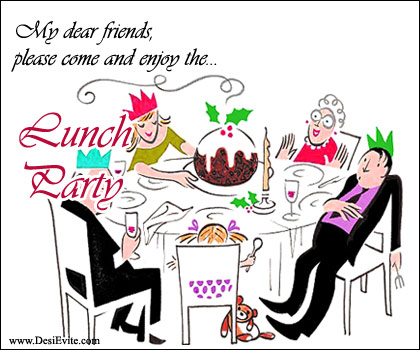 Party clipart office lunch Enjoy Lunch Invitation & (Free)