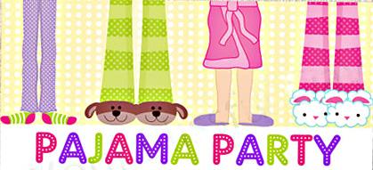 Party clipart pajamas Clipart Art pajamas party Art